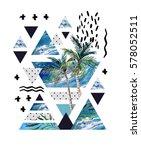 abstract summer geometric...   Shutterstock . vector #578052511