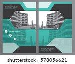 brochure template or flyer... | Shutterstock .eps vector #578056621