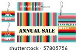 colorful lined sales and... | Shutterstock .eps vector #57805756
