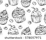 hand drawn vector graphic black ... | Shutterstock .eps vector #578057971