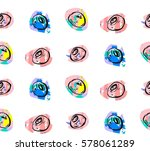 hand drawn vector abstract... | Shutterstock .eps vector #578061289