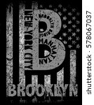 new york city  brooklyn.... | Shutterstock .eps vector #578067037