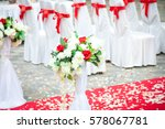 luxury wedding table with... | Shutterstock . vector #578067781