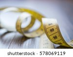 Yellow Measuring Tape Of The...