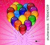 birthday party vector... | Shutterstock .eps vector #578069239