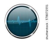 electrocardiogram sign. blue... | Shutterstock .eps vector #578072551