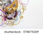 mardi gras background with... | Shutterstock . vector #578075209