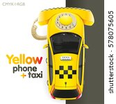 Yellow Phone Of A Call Of Taxi...