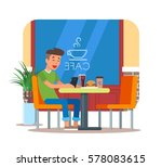 vector illustration of cafe... | Shutterstock .eps vector #578083615