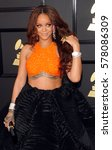 rihanna at the 59th grammy... | Shutterstock . vector #578086309