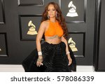 rihanna at the 59th grammy... | Shutterstock . vector #578086339