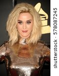 katy perry at the 59th grammy... | Shutterstock . vector #578087245