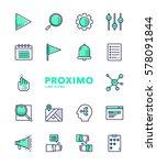 user interface futuristic... | Shutterstock .eps vector #578091844