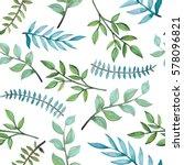 seamless pattern of watercolor... | Shutterstock . vector #578096821