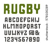 sanserif font and numerals in... | Shutterstock .eps vector #578100289