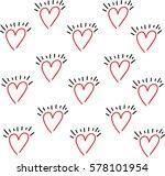 heart vector drawing background ... | Shutterstock .eps vector #578101954