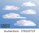 set of realistic and... | Shutterstock .eps vector #578105719