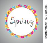 blue spring banner with... | Shutterstock .eps vector #578106601