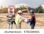 civil engineers at construction ... | Shutterstock . vector #578108401