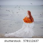 woman in an image of angel | Shutterstock . vector #578112637