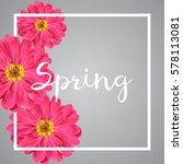 spring banner with pink flowers ... | Shutterstock .eps vector #578113081
