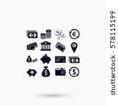 finance icons vector  flat... | Shutterstock .eps vector #578115199