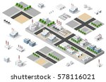 isometric 3d city urban factory ... | Shutterstock .eps vector #578116021