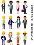 illustration of business people ... | Shutterstock .eps vector #578118385