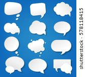 speech bubble collection with... | Shutterstock .eps vector #578118415