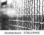 iron fence   steel mesh fence | Shutterstock . vector #578119945