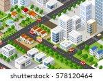isometric 3d building city ...   Shutterstock .eps vector #578120464