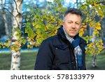 handsome happy smiling man.... | Shutterstock . vector #578133979