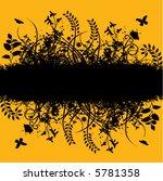 a floral grunge banner...   Shutterstock .eps vector #5781358