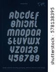 set of stylized alphabet... | Shutterstock .eps vector #578138395