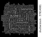 Business. Word Collage On Blac...