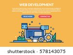 web development concept. vector ... | Shutterstock .eps vector #578143075