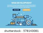 web development concept. vector ... | Shutterstock .eps vector #578143081