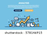 analysis concept for web site.... | Shutterstock .eps vector #578146915