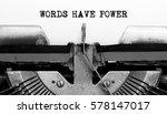 Vintage Typewriter With Text...