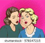 pop art retro comic vector... | Shutterstock . vector #578147215
