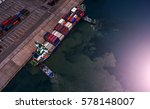 container container ship in... | Shutterstock . vector #578148007