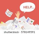 businessman needs help under a... | Shutterstock .eps vector #578149591