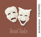 theater masks for ancient... | Shutterstock .eps vector #578149981