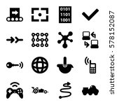 technology icon. set of 16... | Shutterstock .eps vector #578152087