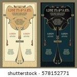 vintage frame design for labels ... | Shutterstock .eps vector #578152771