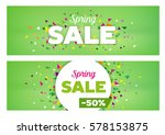 spring sales banners   modern... | Shutterstock .eps vector #578153875
