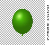 green balloon isolated vector...   Shutterstock .eps vector #578156485