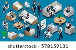 isometric people isolated... | Shutterstock .eps vector #578159131