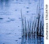 Rain Fallinmg On Lake...