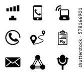 communication icon. set of 9...   Shutterstock .eps vector #578166901